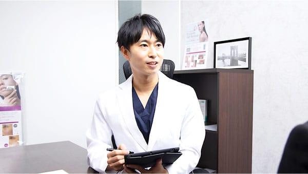 男性の美容に精通した医師による対応